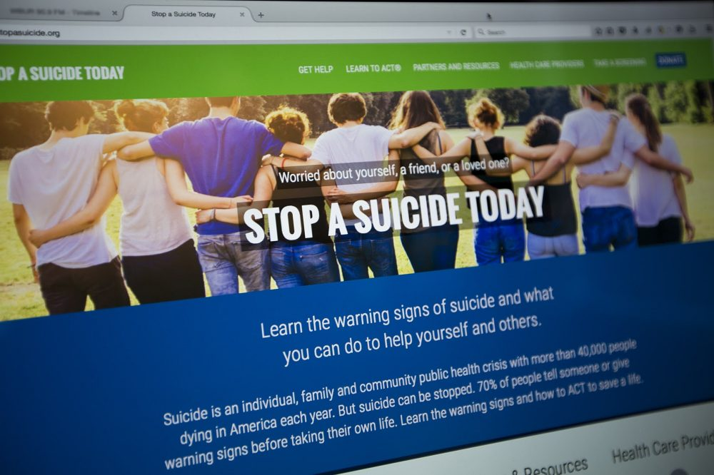 Massachusetts-based Screening for Mental Health launched a new site to  teach people how to intervene when someone they know might be considering suicide. (Jesse Costa/WBUR)