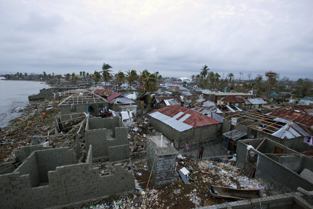 Homes lay in ruins after the passing of Hurricane Matthew in Les Cayes, Haiti, Thursday, Oct. 6, 2016. (Dieu Nalio Chery/AP)