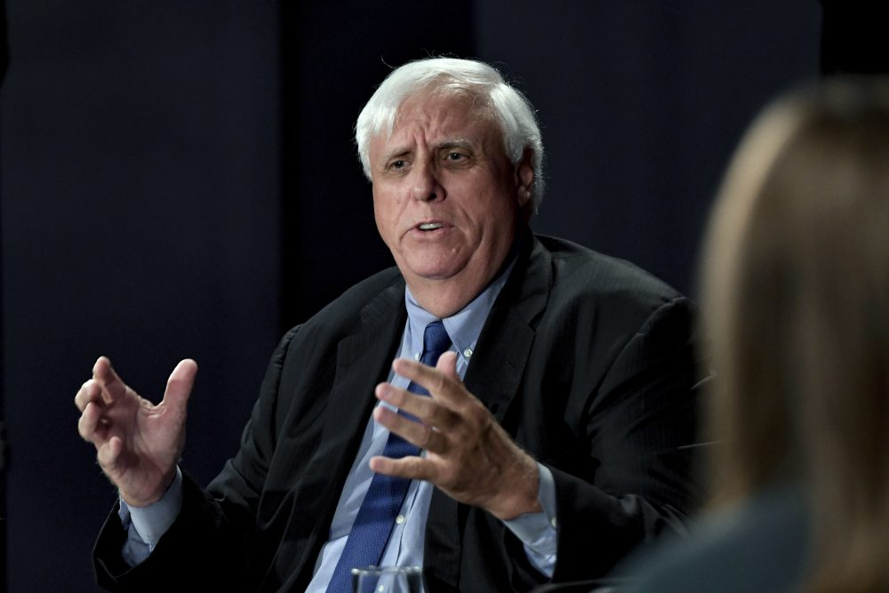 Democratic candidate Jim Justice speaks during a gubernatorial debate against Senate Majority Leader Bill Cole, R-W.Va., Tuesday, Oct. 4, 2016 at the Clay Center in Charleston, W.Va. (Tyler Evert/AP)