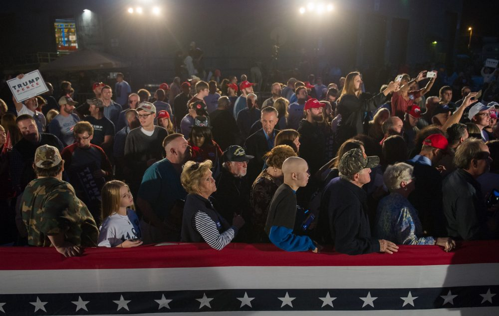 Supporters gather for a chance to see Republican vice presidential candidate Mike Pence at a rally in Johnstown, Pa., on Oct. 6, 2016. (Jeff Swensen/Getty Images)