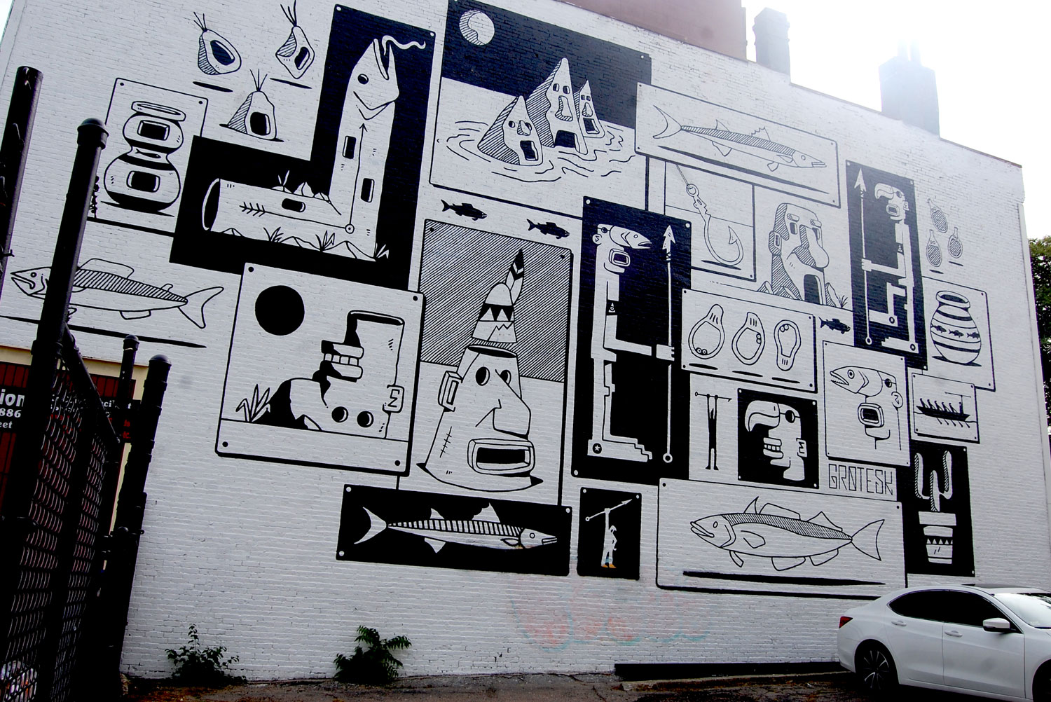 Mural by grotesk at 171 dudley st boston greg cook