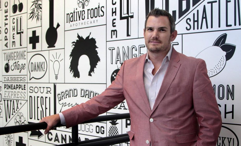 Josh Ginsberg, owner and CEO of Native Roots Dispensary. (Dean Russell/Here & Now)