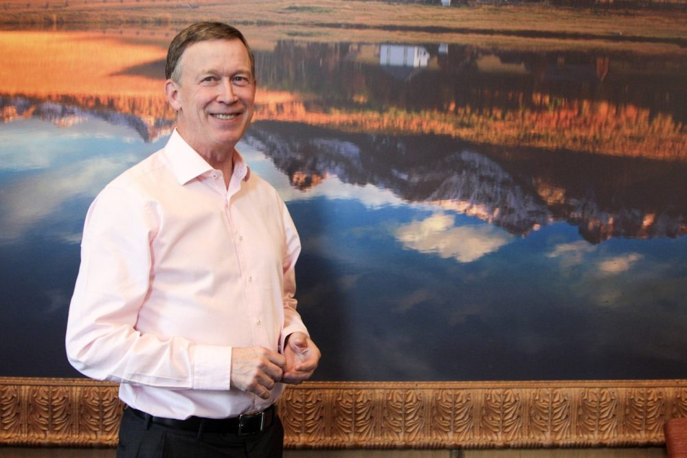 Colorado Gov. John Hickenlooper is a strong supporter of his party's candidate, Hillary Clinton. (Dean Russell/Here & Now)