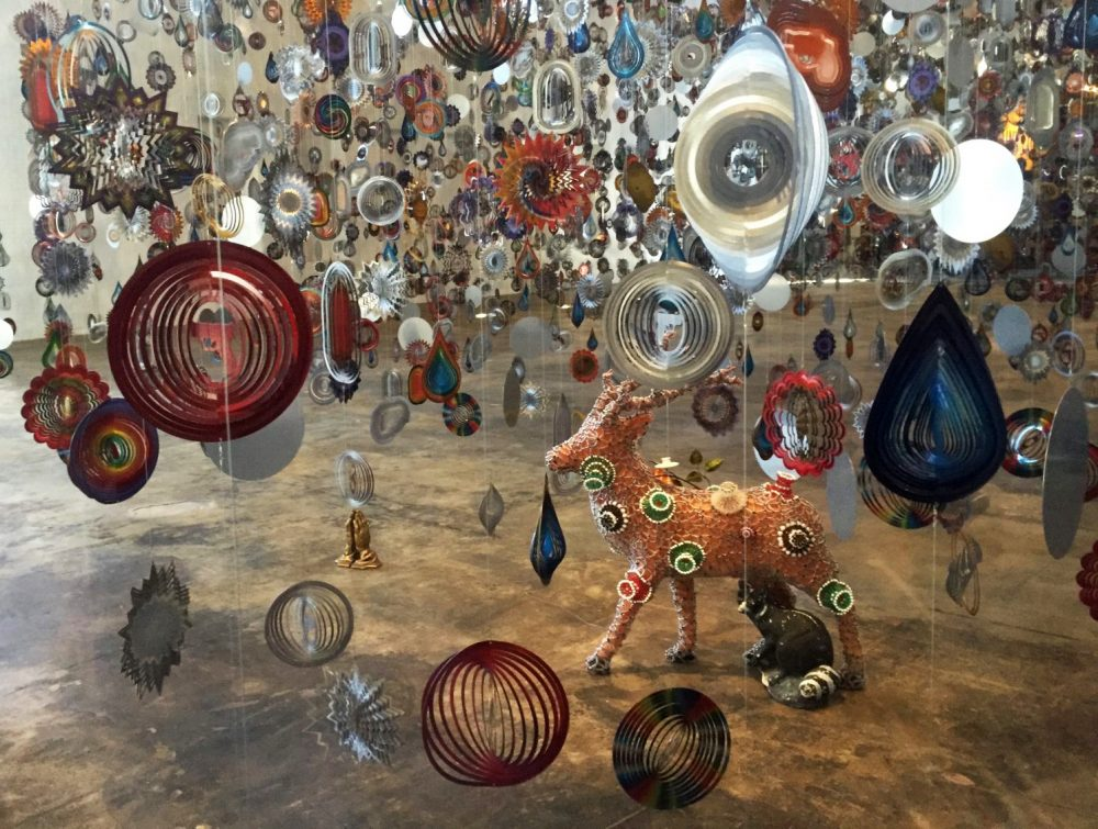 "A detail of ""Until"" by Nick Cave. (Jeremy D. Goodwin for WBUR)"