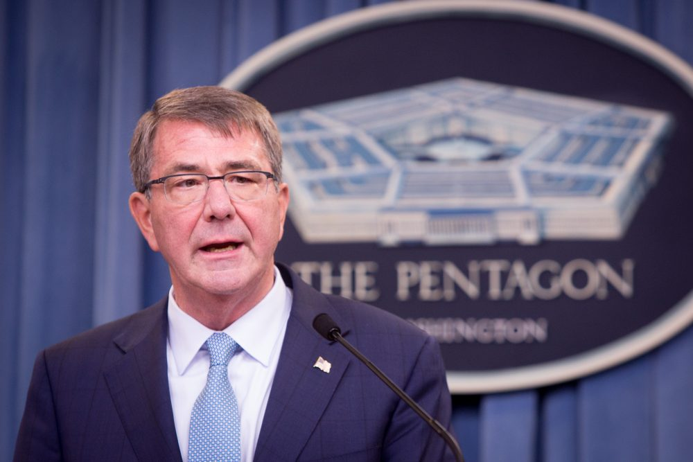 Secretary of Defense Ash Carter speaks during a press conference on June 30, 2016 at the Pentagon in Arlington, Va. (Allison Shelley/Getty Images)