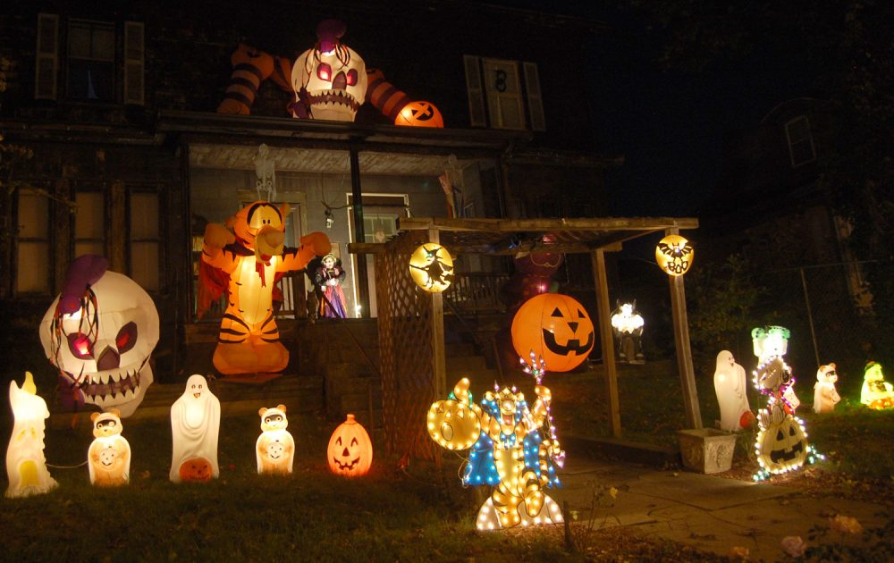 A house decorated for Halloween in Boston. (Greg Cook/WBUR/file)