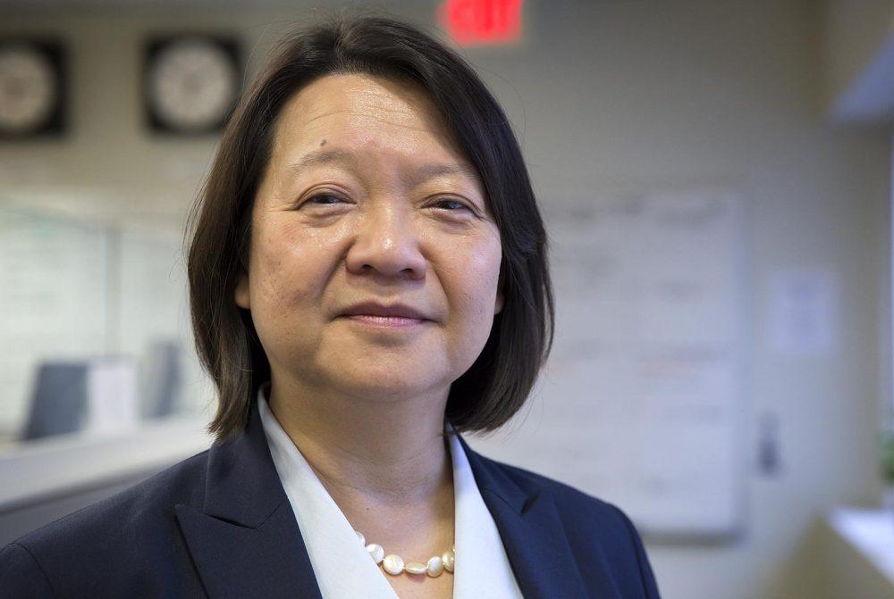 Pam Eddinger, president of Bunker Hill Community College. (Robin Lubbock/WBUR)