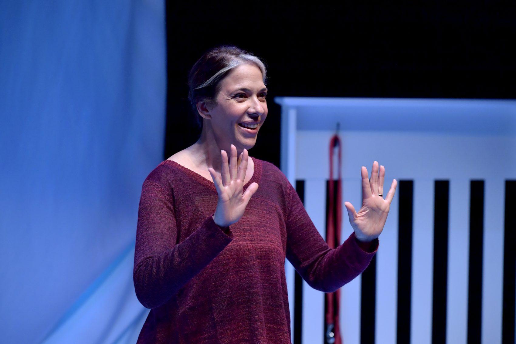 Performer and playwright Melinda Lopez. (Courtesy Paul Marotta/ArtsEmerson)