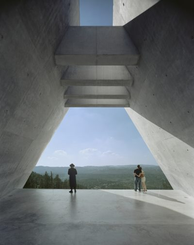 The Yad Vashem Holocaust History Museum in Jerusalem, designed by Moshe Safdie. (Courtesy Safdie Architects)