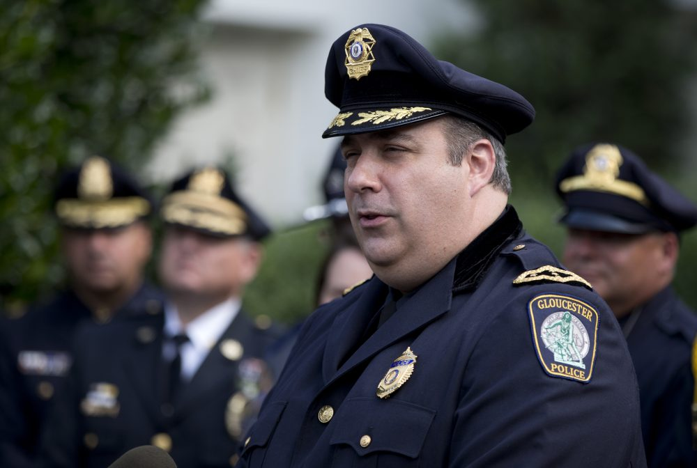 In a July 6 file photo, Gloucester Police Chief Leonard Campanello talks to media outside the White House. (Carolyn Kaster/AP)