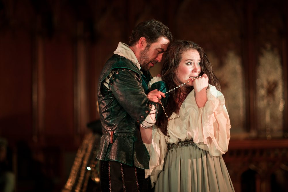 Alexander Platt and Poornima Kirby. (Courtesy Nigel Scott/Actors Shakespeare Project)