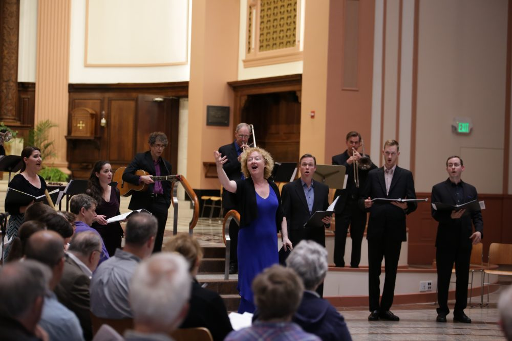 Anne Azema singing with the Boston Camerata (Credit Ohkyeong Kwon)