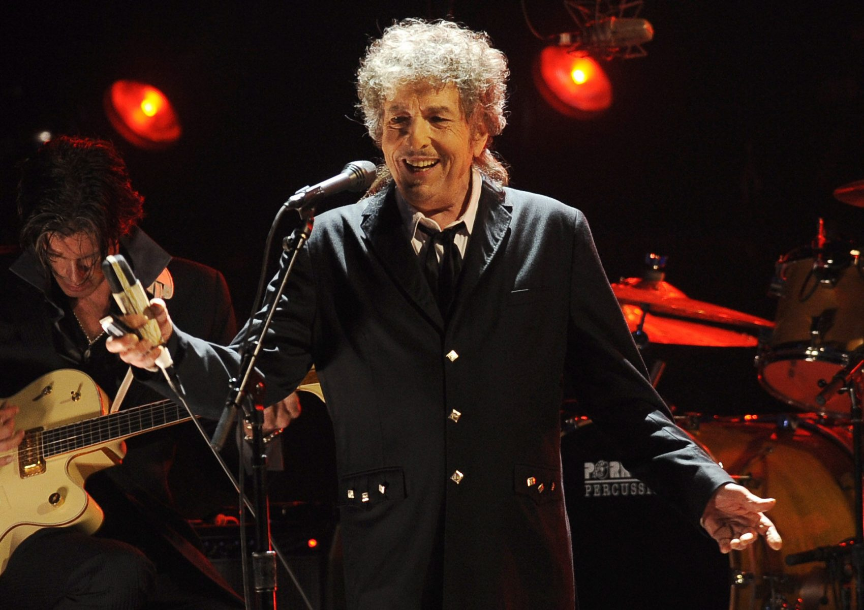 Bob Dylan performing in Los Angeles in 2012.  (Chris Pizzello/AP)