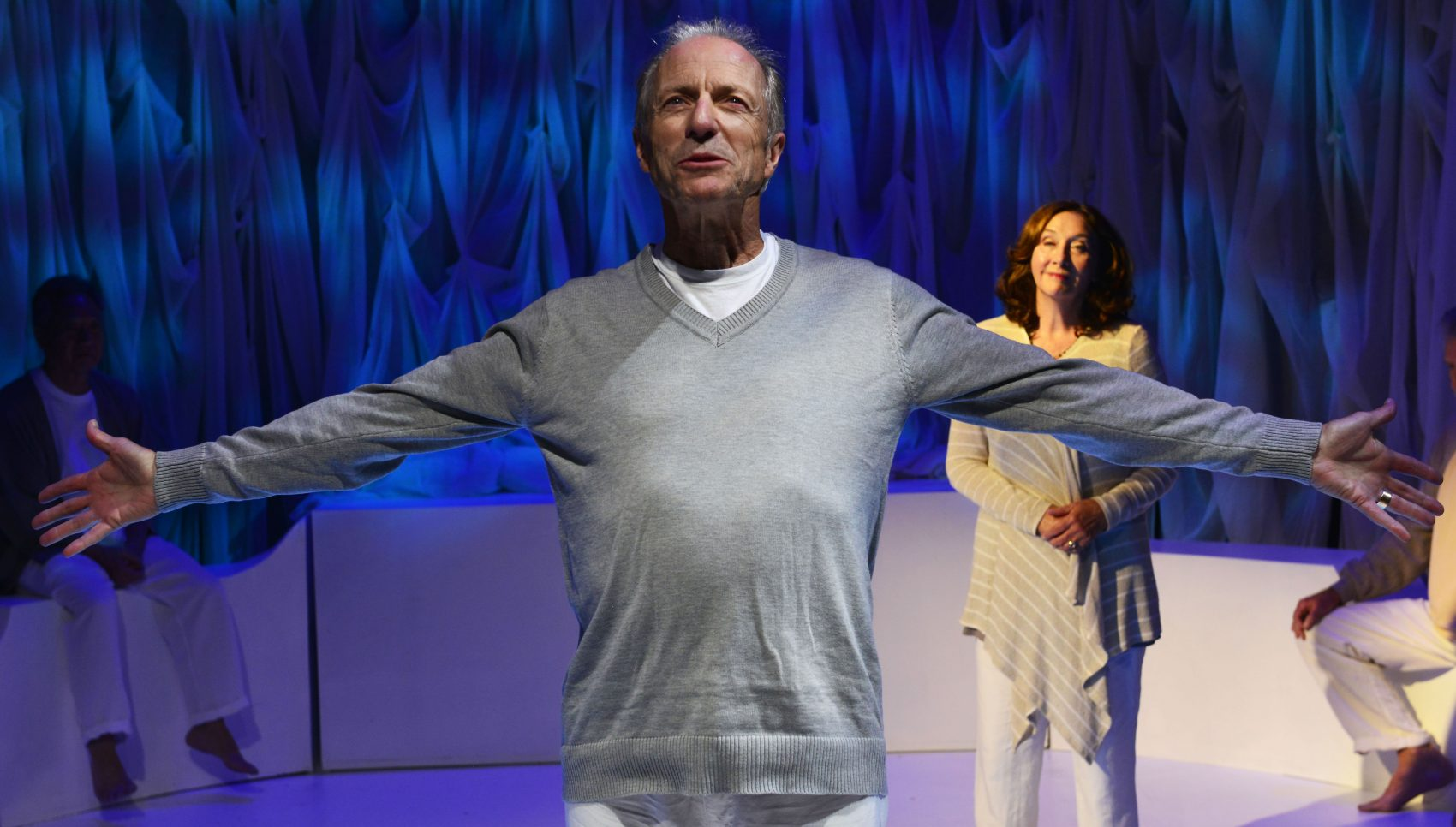 """Will Lyman and Sandra Shipley in Israel Horovitz' """"Man in Snow"""" at the Gloucester Stage Company. (Courtesy of Gary Ng)"""