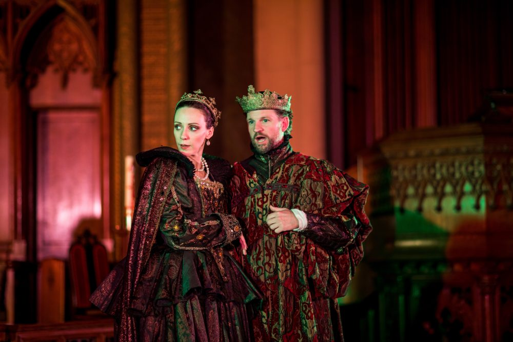 Marianna Bassham and Ross Macdonald. (Courtesy Nile Scott/Actors' Shakespeare Project)