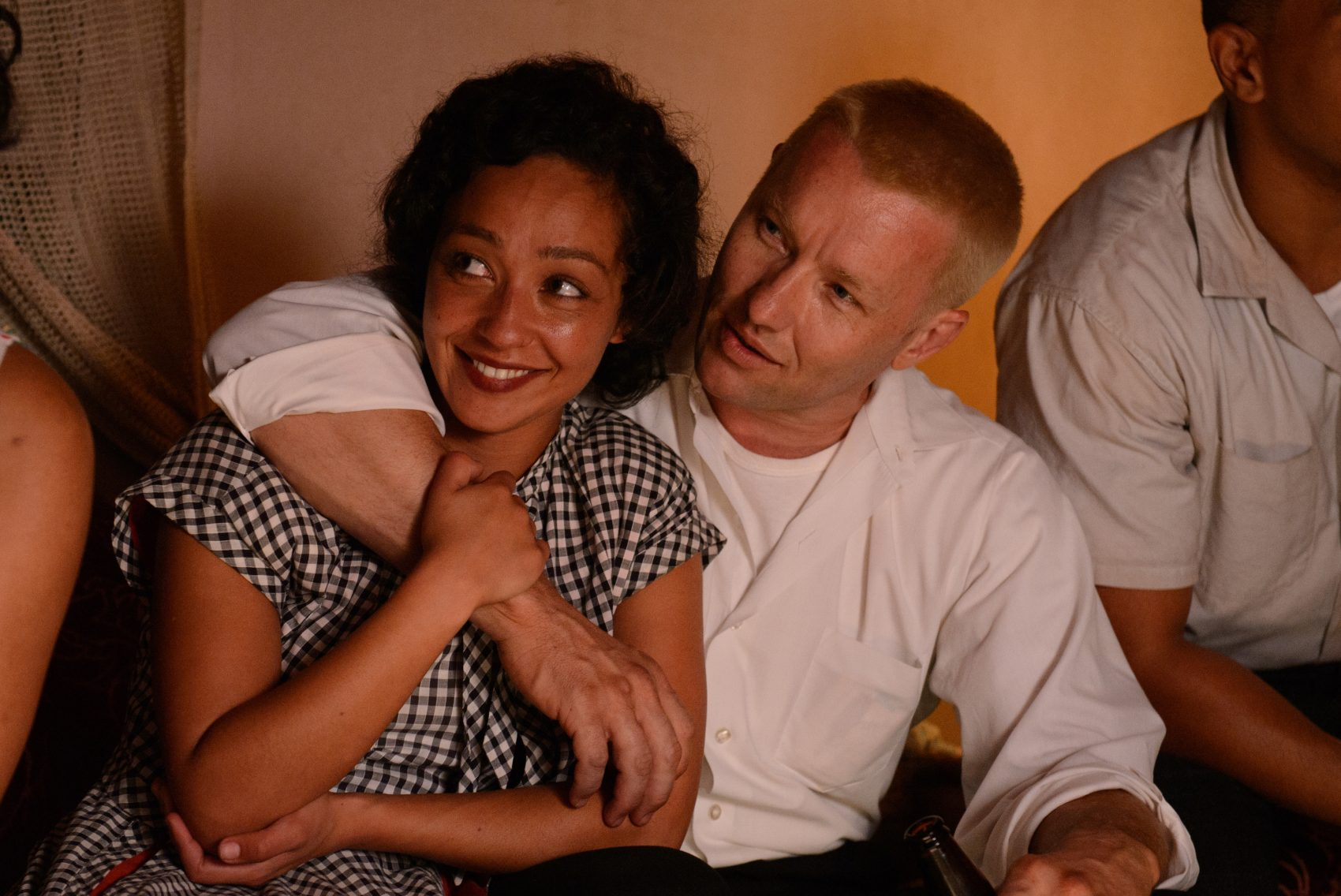 """Ruth Negga (left) and Joel Edgerton (right) as Mildred and Richard Loving in the film """"Loving."""" (Courtesy Focus Features)"""