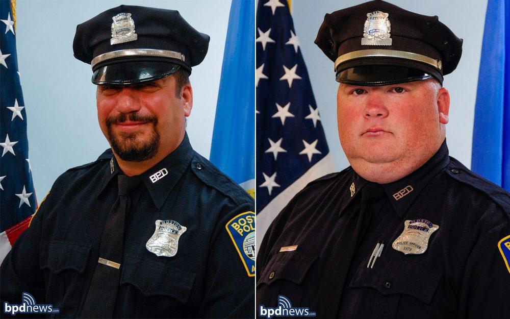 Officer Richard Cintolo, left, and Officer Matthew Morris (Courtesy BPD)