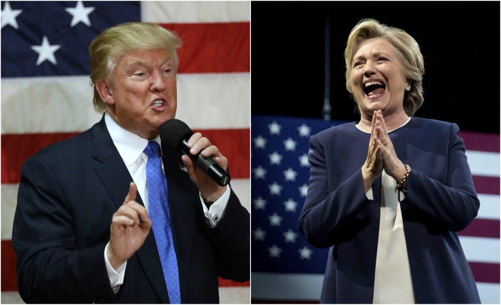 Donald Trump and Hillary Clinton. (AP)
