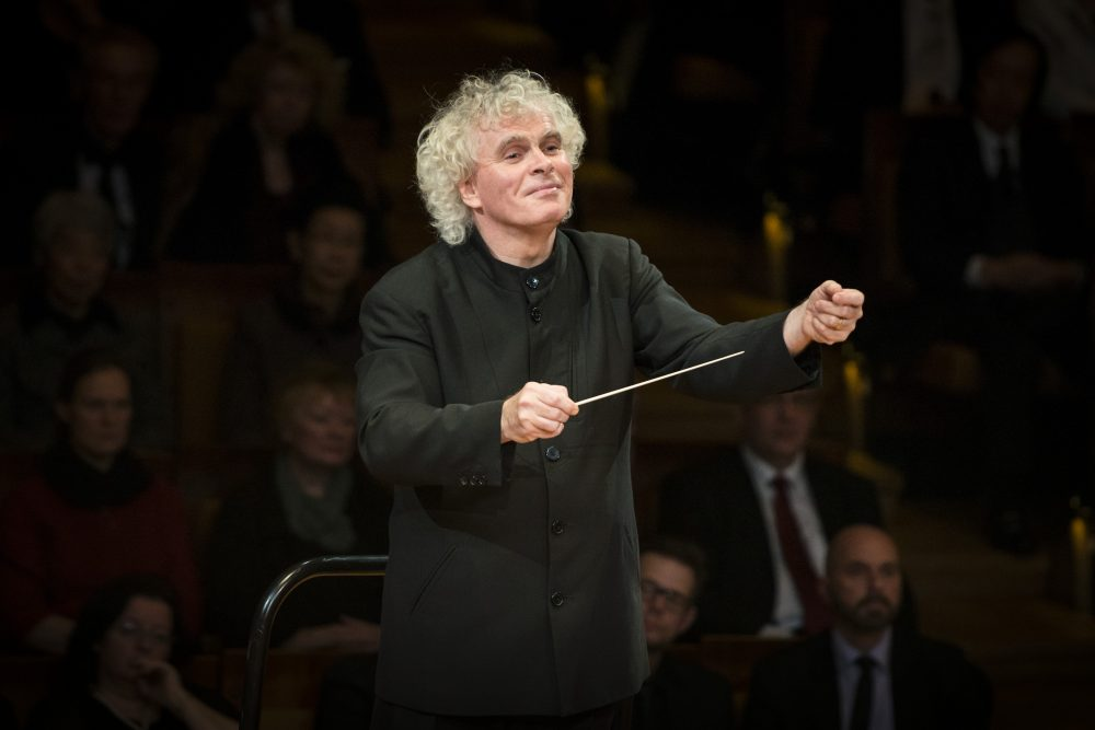 Conductor Sir Simon Rattle. (Courtesy Celebrity Series)