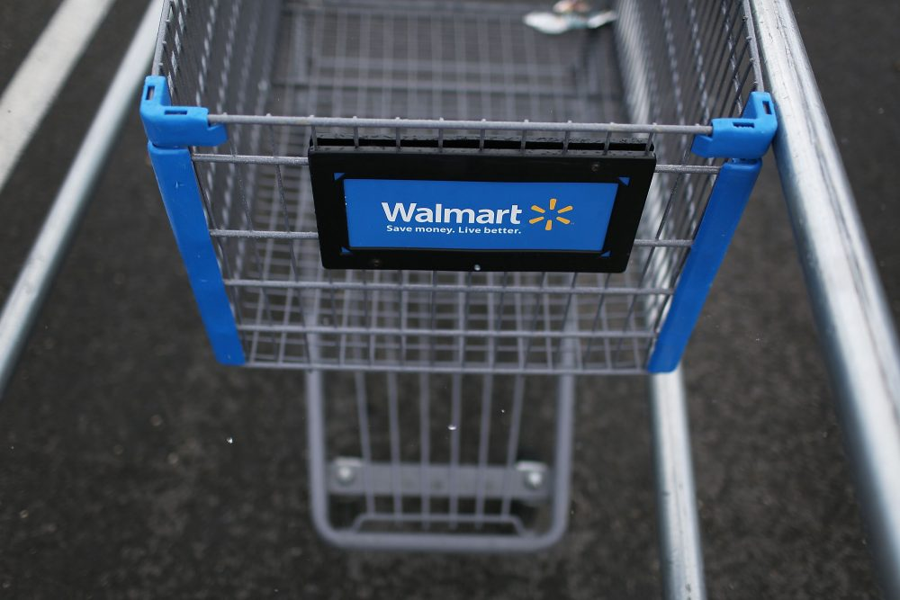A Wal-Mart cart is seen in August 2015 in Miami. (Joe Raedle/Getty Images)