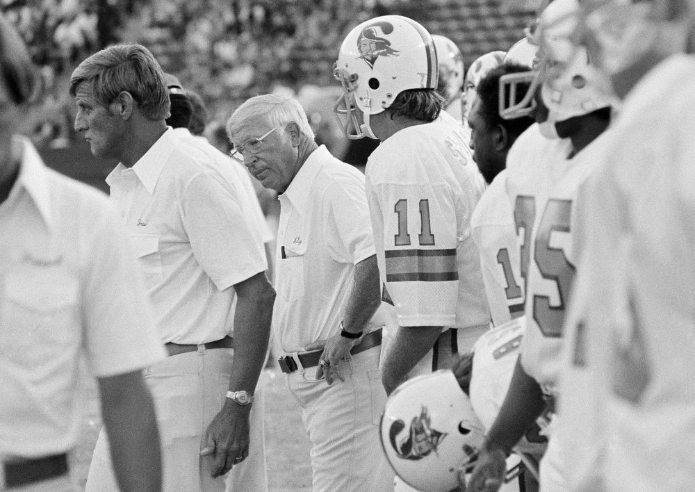 Forty years ago, the Tampa Bay Buccaneers entered the NFL as an expansion team. They lost their first 26 games. (George Brich/AP)