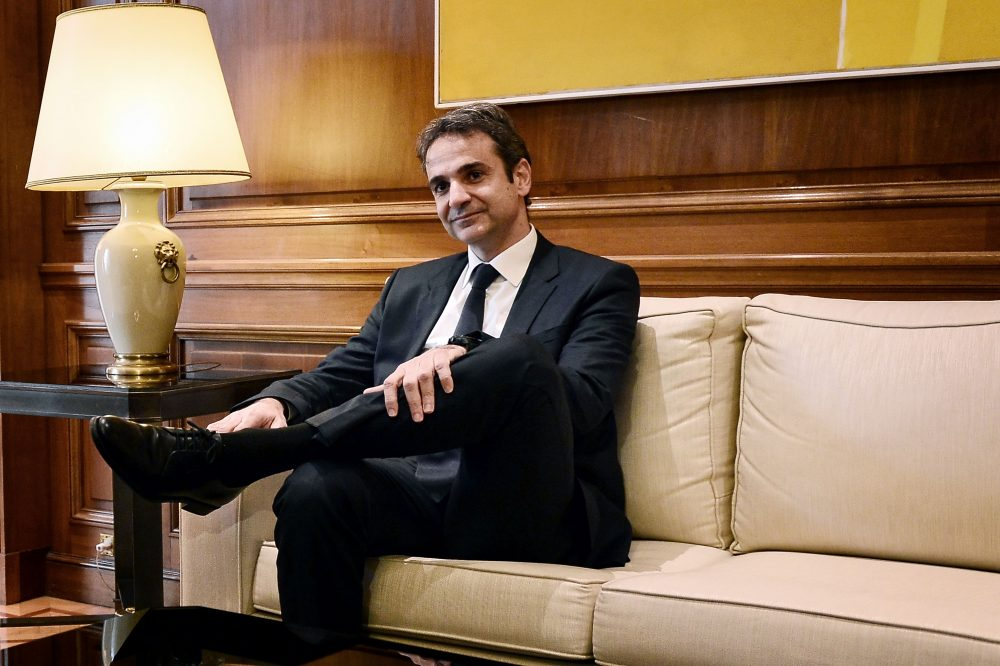 New Democracy party leader Kyriakos Mitsotakis in Athens in January 2016. (Louisa Gouliamaki/AFP/Getty Images)