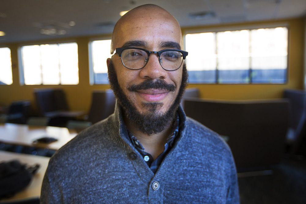 Writer, teacher, and doctoral candidate in Education at Harvard University Clint Smith. (Jesse Costa/WBUR)