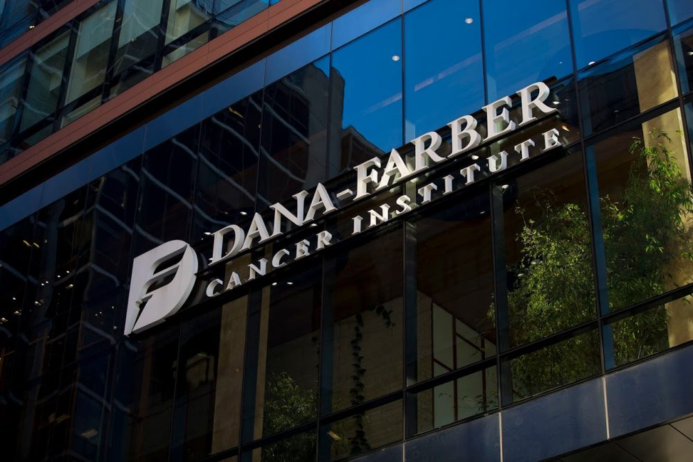 The Dana Farber Cancer Institute in the Longwood medical area. (Jesse Costa/WBUR)