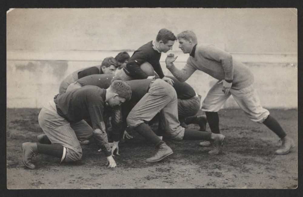 "Sports historian Ron Smith says football in 1905 was a ""slugfest."" (Harvard University Archives)"