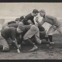"""Sports historian Ron Smith says football in 1905 was a """"slugfest."""" (Harvard University Archives)"""