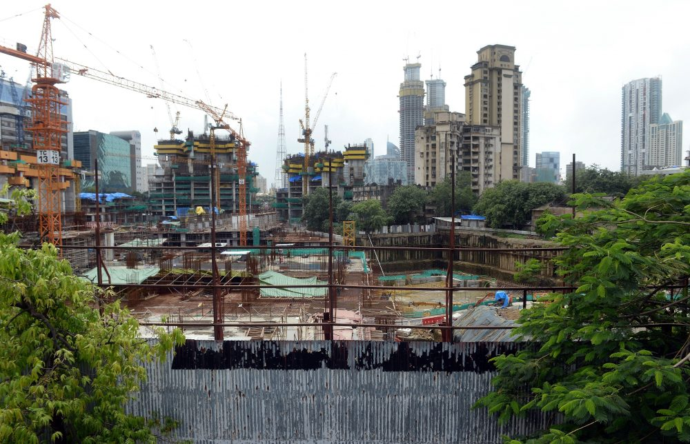 "A general view of the construction site of the luxury apartment block The Park, also dubbed ""Trump Tower,"" in Mumbai, India, on July 31, 2015. The development is not owned by President-elect Donald Trump, but bears his name under a license agreement. (Indranil Mukherjee/AFP/Getty Images)"