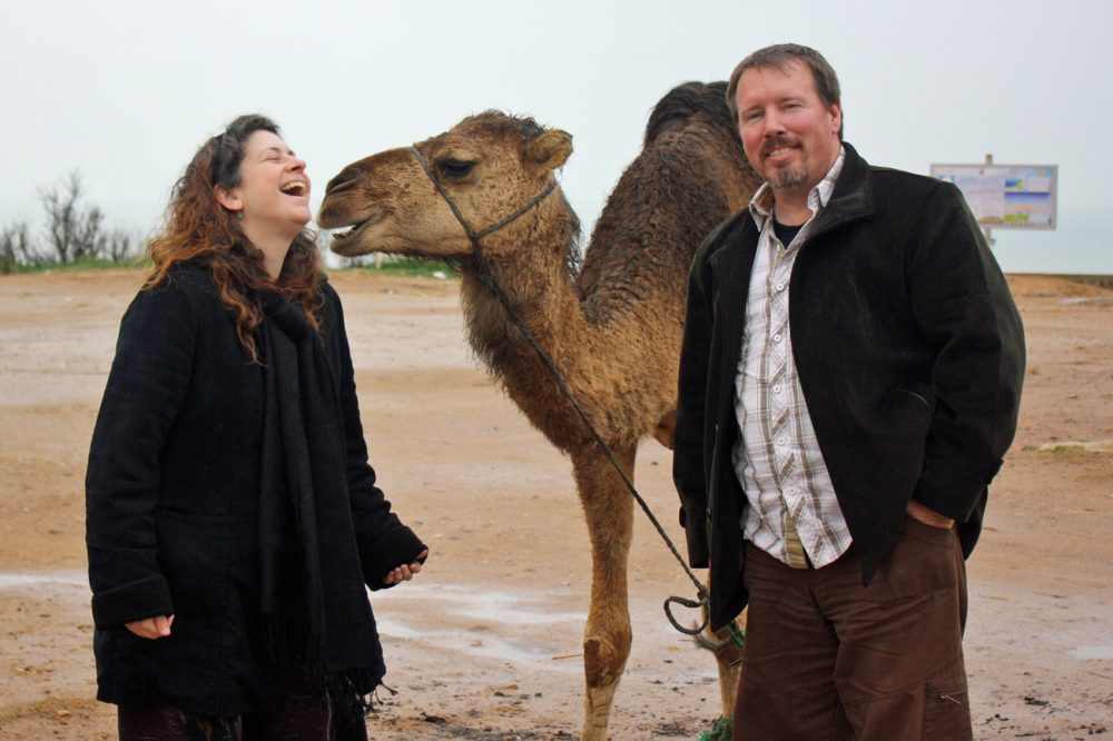 Brian Turner, an Iraq War veteran, with his late wife Ilyse in Morocco. (Courtesy Brian Turner)