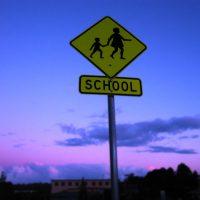 A school crossing sign. (Kelly Hunter/Flickr)