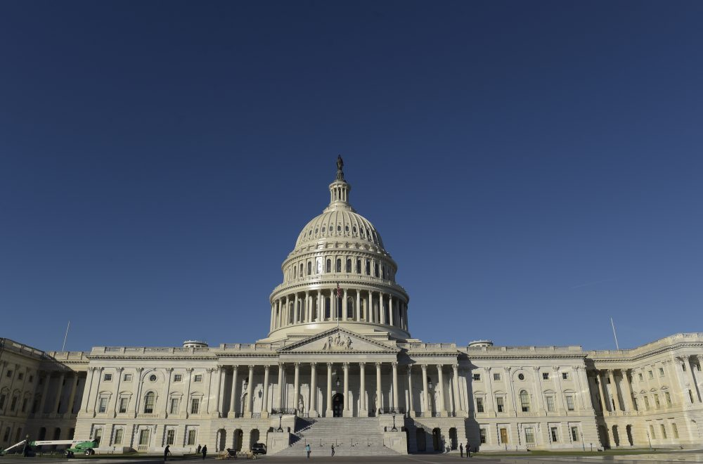 Capitol Hill in Washington, as seen on Election Day. (Susan Walsh/AP)