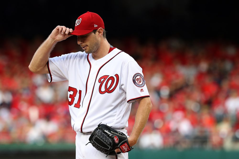 Max Scherzer of the Washington Nationals won the National League Cy Young Award. In the American League, there was some controversy. (Rob Carr/Getty Images)