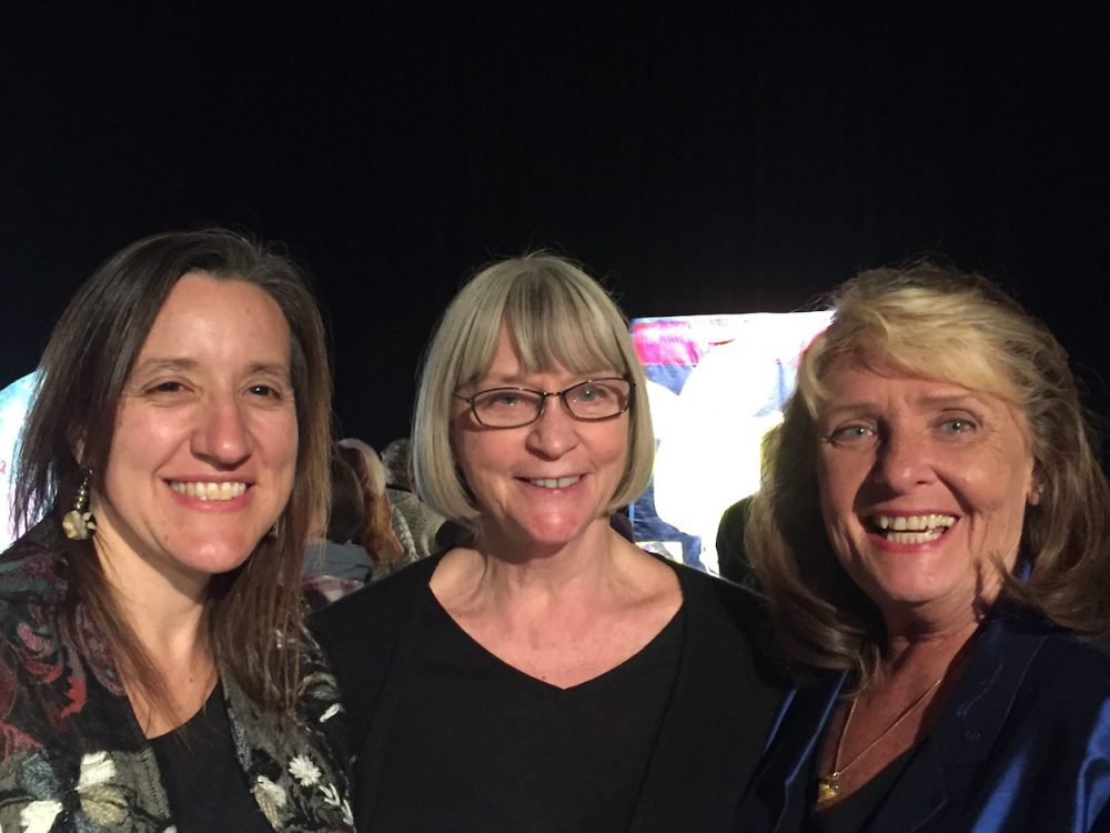 (Courtesy. L to R:  Michelle Harris, Founder of the Survivor Quilt Project, Dr. Elaine Westerlund, Founder of Incest Resources, and Donna Jenson, Founder of Time to Tell.)