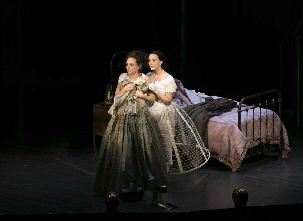"""Tracee Chimo and Christina Bennett Lind in """"Fingersmith."""" (Evgenia Eliseeva)"""