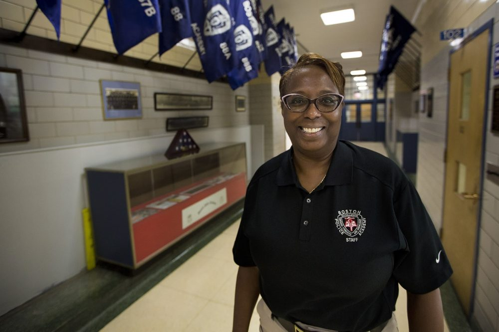 Supt. Lisa Holmes is chief of the Bureau of Professional Development at the Boston Police Department. (Jesse Costa/WBUR)