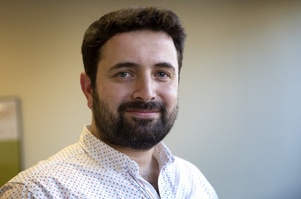 Dr. Khaled Almilaji at WBUR. (Robin Lubbock/WBUR)