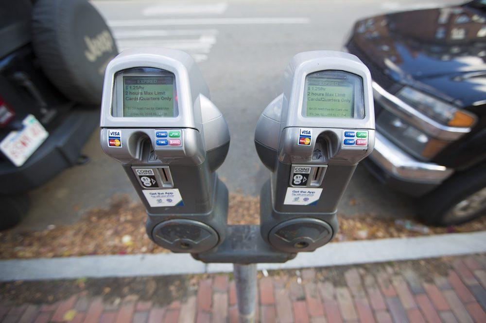 A parking meter in Boston. (Jesse Costa/WBUR)