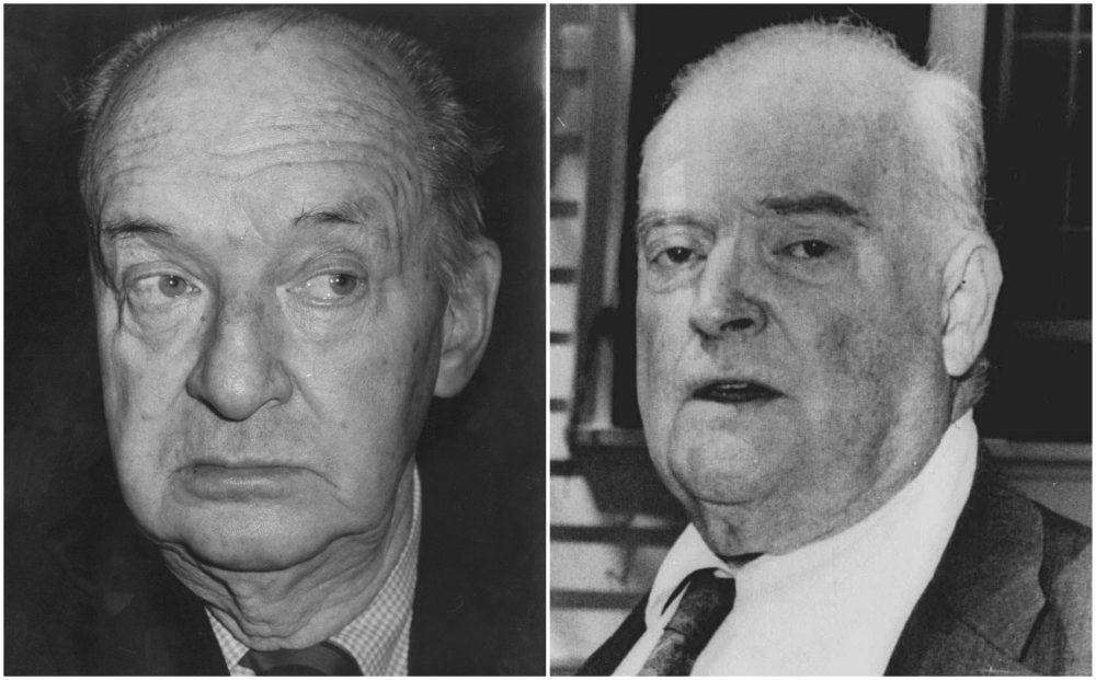 Vladimir Nabokov (left) and Edmund Wilson (right). (AP File)