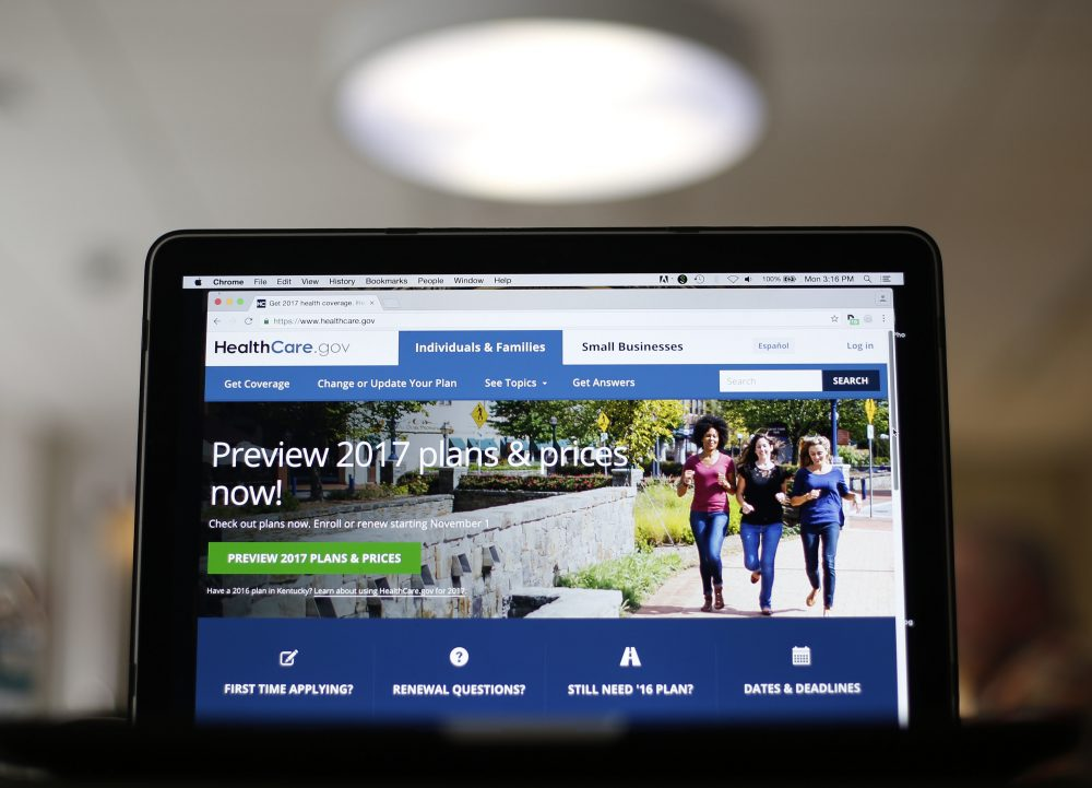 In this Oct. 24, 2016, file photo, the HealthCare.gov 2017 web site home page as seen in Washington. President-elect Donald Trump says he wants to preserve health insurance coverage even as he pursues repeal of the Obama-era overhaul that provided it to millions of uninsured people. (Pablo Martinez Monsivais, File/AP)