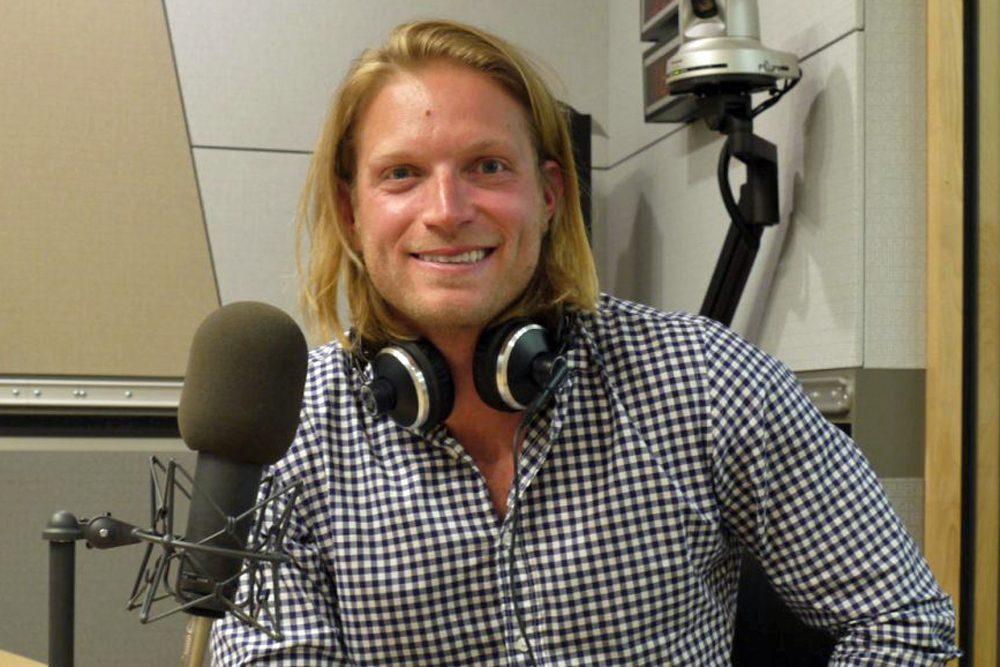Author Rob Cocuzzo at WBUR. (WBUR Photo)