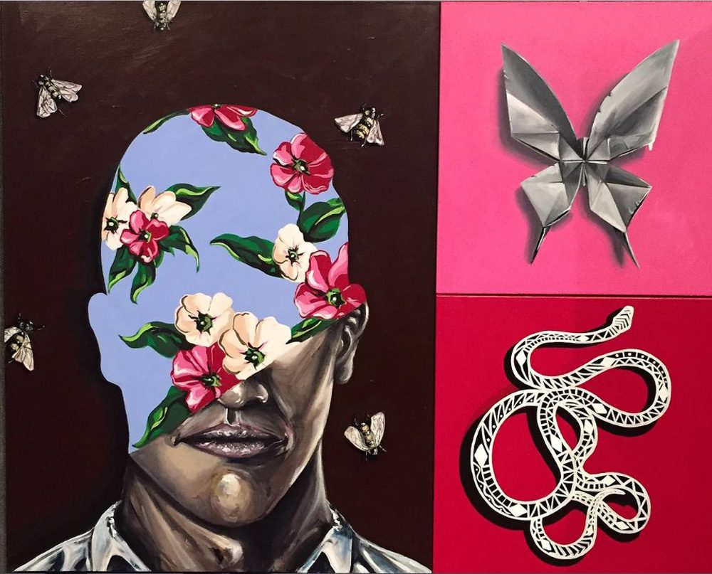 """Artist Chris Bingham's piece """"A Rose By Any Other Name."""" (Courtesy Chris Bingham)"""