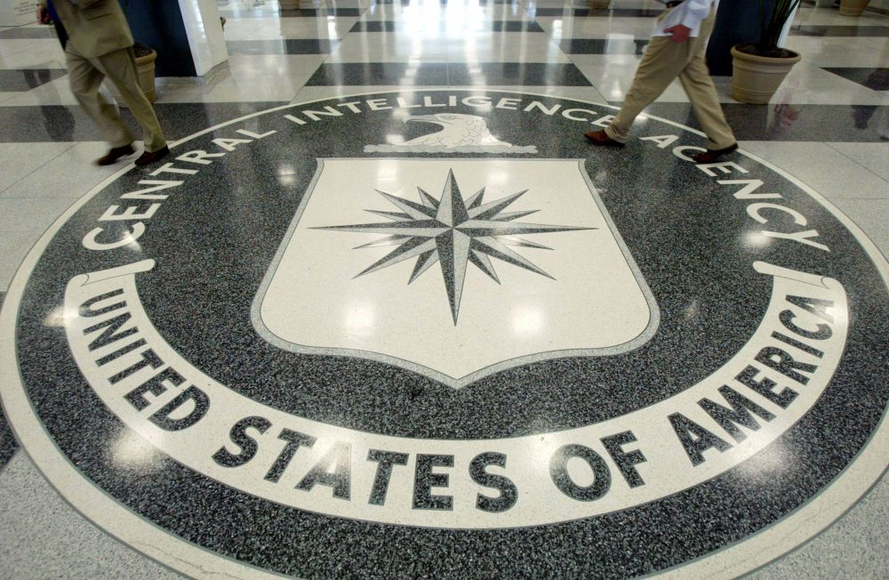 The CIA symbol is shown on the floor of CIA Headquarters, July 9, 2004 at CIA headquarters in Langley, Va. (Mark Wilson/Getty Images)