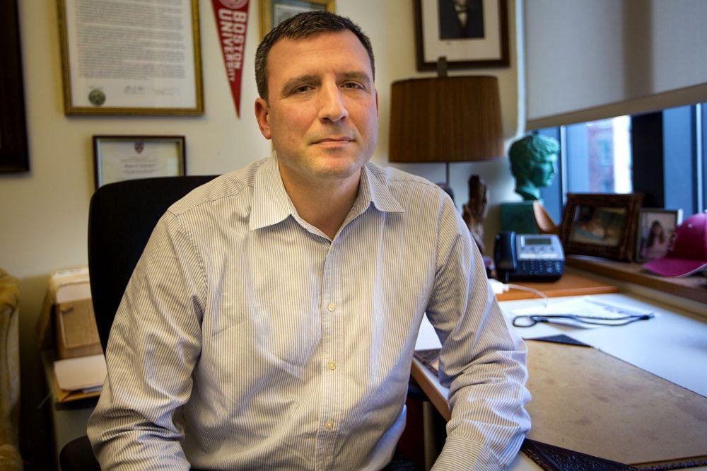 Boston University professor of history Seth Blumenthal. (Jesse Costa/WBUR)