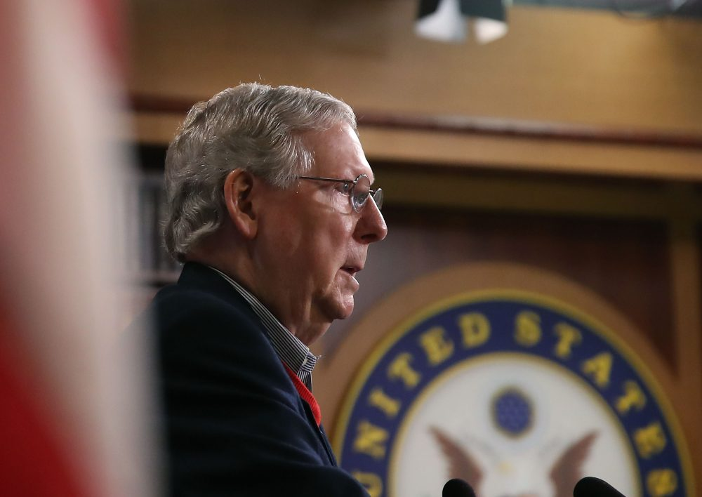 Senate Majority Leader Mitch McConnell speaks to reporters during a news conference at the Capitol, Dec. 12, 2016 in Washington, D.C. (Mark Wilson/Getty Images)