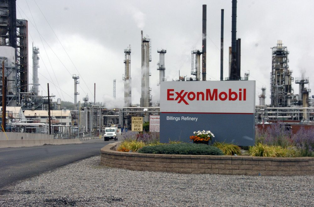Exxon Mobil's Billings Refinery in Billings, Mont., in September 2016. (Matthew Brown/AP)