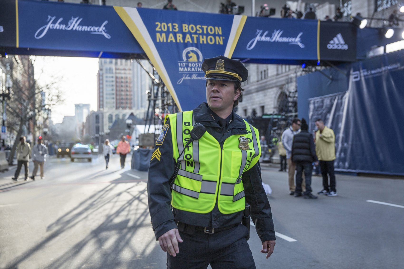 """Mark Wahlberg as fictional BPD Sergeant Tommy Saunders in """"Patriots Day."""" (Courtesy CBS Films)"""