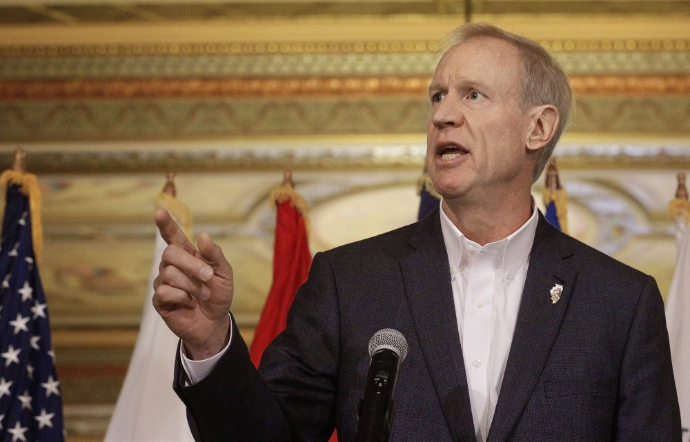 In this Sept. 26, 2016 file photo, Illinois Gov. Bruce Rauner speaks at the Illinois State Capitol, in Springfield, Ill. (Seth Perlman/AP)